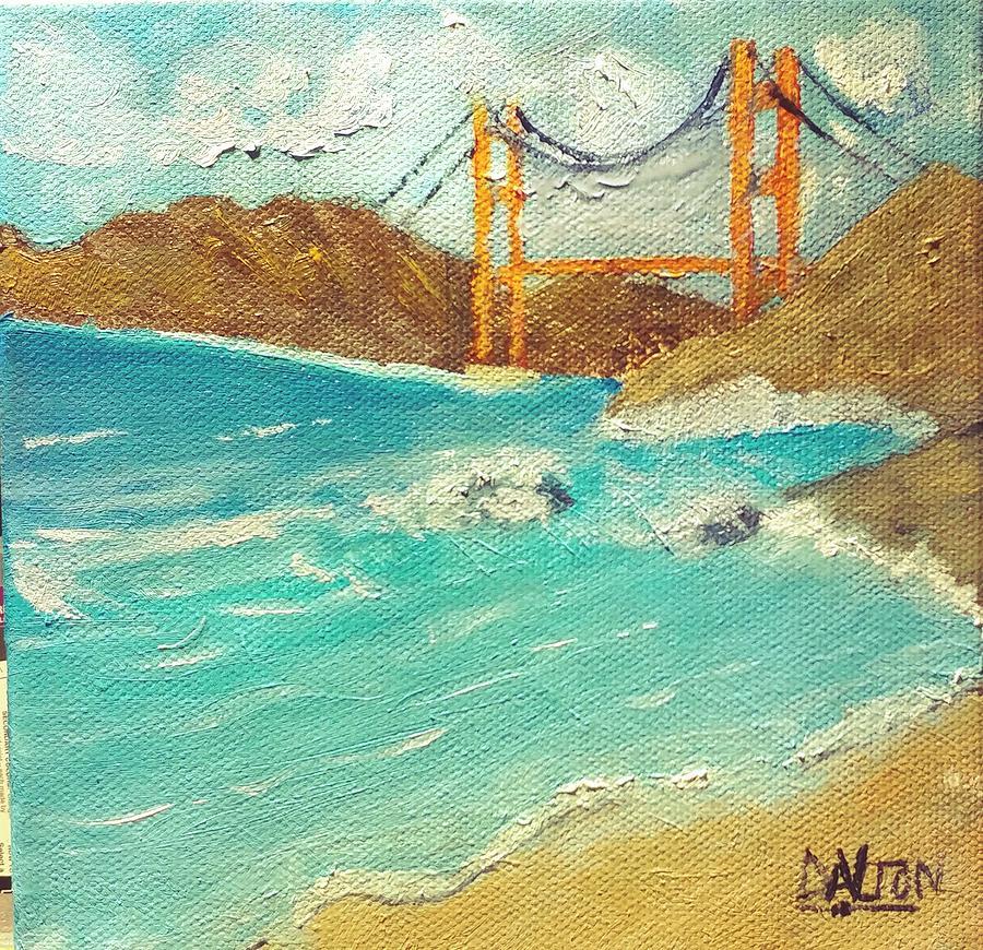 Bridge Painting - Bridge Over Troubled Water by George Dalton