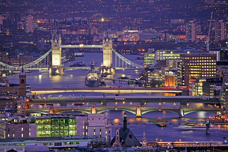 Bridges Of London Photograph by James Burns