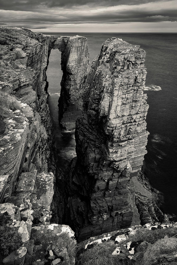 Headland Photograph - Brig O Stack by Dave Bowman