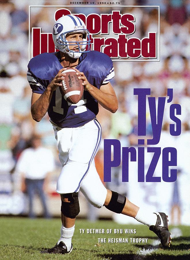 Brigham Young University Qb Ty Detmer Sports Illustrated Cover Photograph by Sports Illustrated
