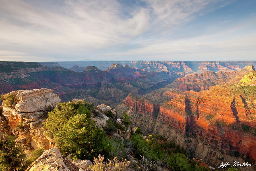 Bright Angel Canyon at Sunrise by Jeff Goulden