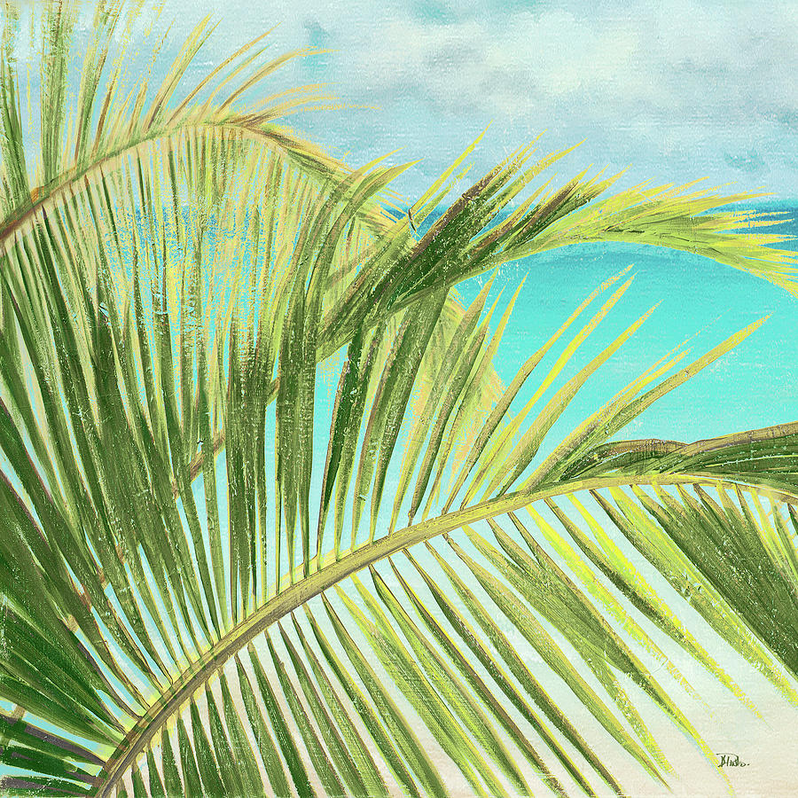 Bright Painting - Bright Coconut Palm I by Patricia Pinto