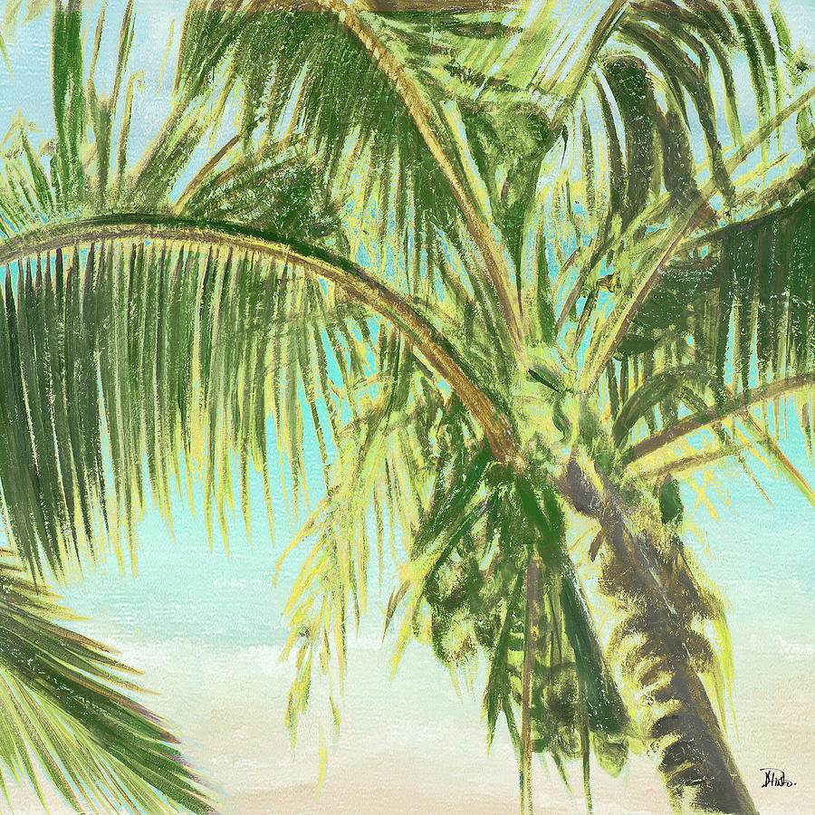 Bright Painting - Bright Coconut Palm II by Patricia Pinto
