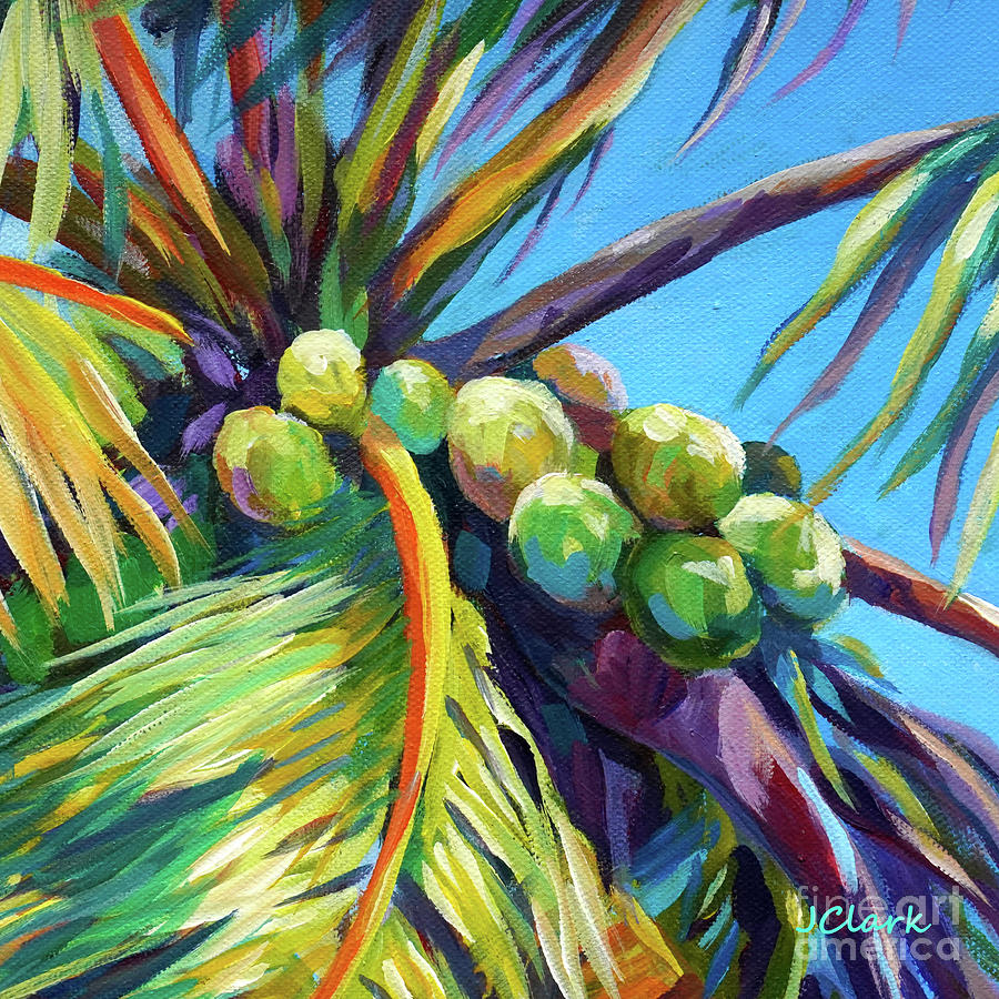 Bright Coconuts Square Painting