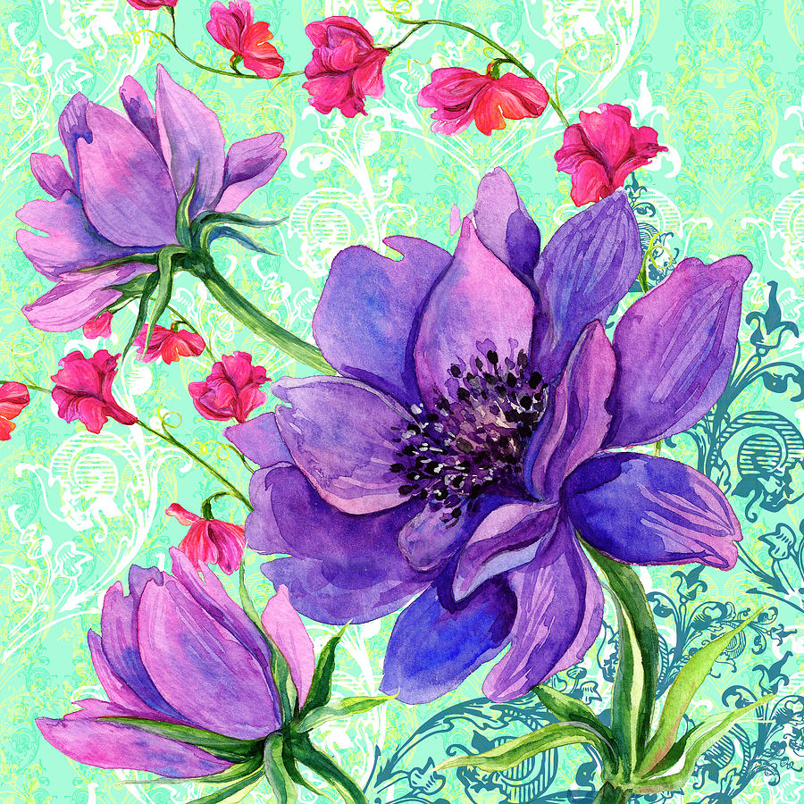 Animals Painting - Bright Florals II by Irina Trzaskos Studio