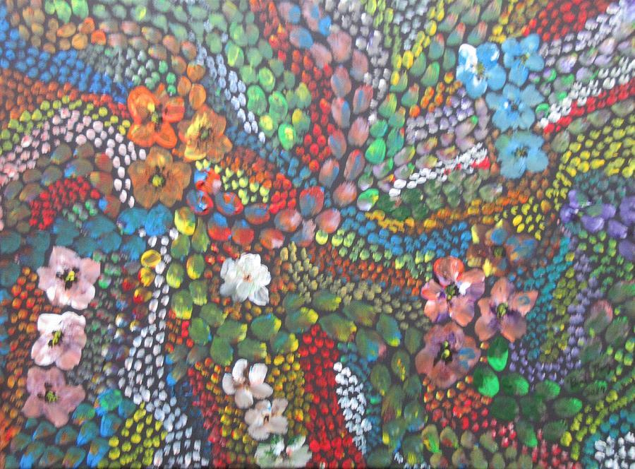 bright flower mosaic 1 by Bradley Boug