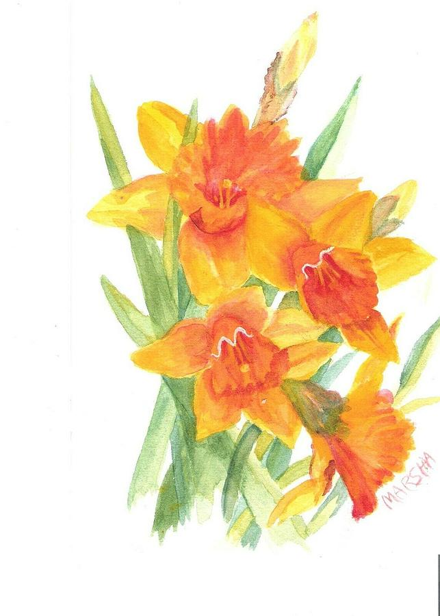Bright Lilies by Marsha Woods