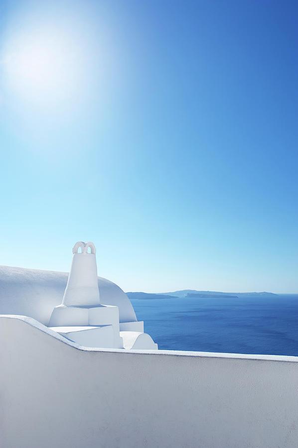 Bright Mediterranean Greek Island Scene Photograph by Peskymonkey