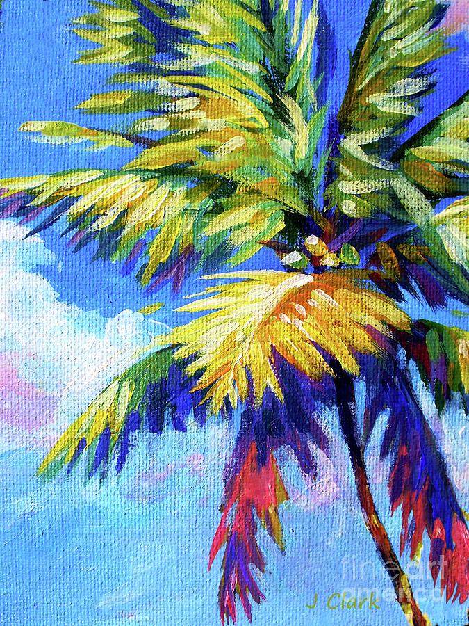 Hawaii Painting - Bright Palm by John Clark