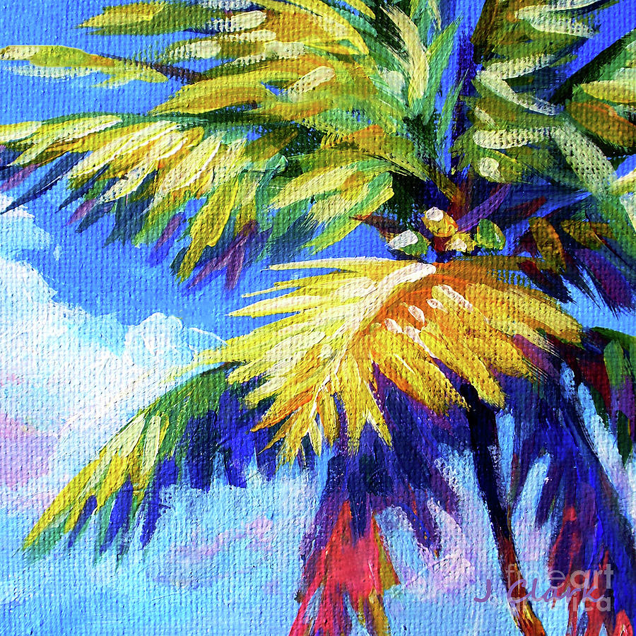 Bright Painting - Bright Palm Square by John Clark