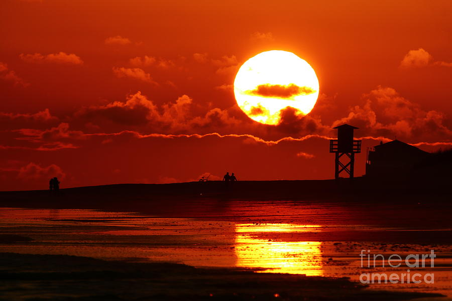Sunset Photograph - Bright Rota, Spain Sunset by Tony Lee