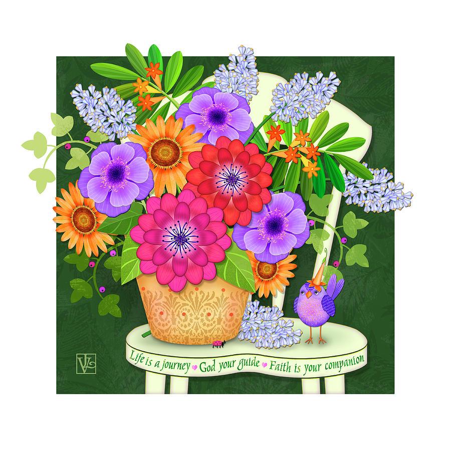 Bright Side the Flowers of Faith by Valerie Drake Lesiak