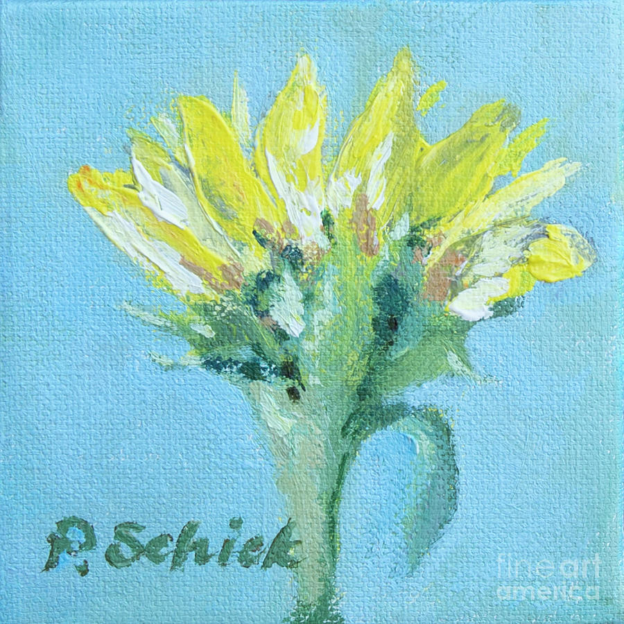 Flowers Painting - Bright Sunflower by Pamela Schick