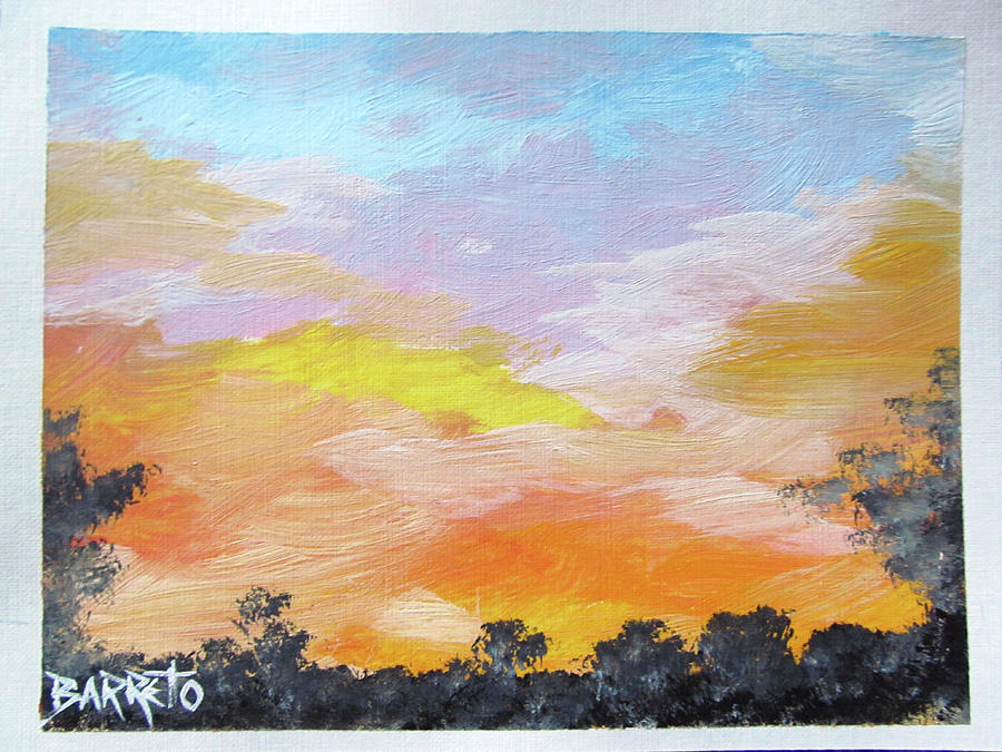 Bright Sunset by Gloria E Barreto-Rodriguez
