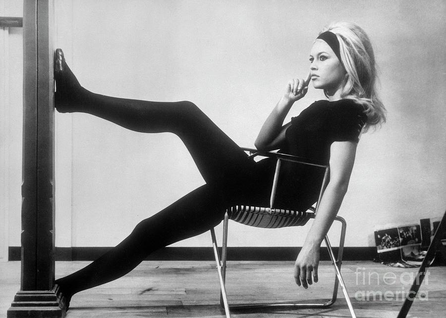Brigitte Bardot Relaxing Between Scenes Photograph by Bettmann