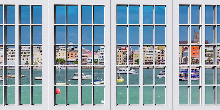 Bermuda Photograph - Brilliant Bermuda Cityscape Windows by Betsy Knapp