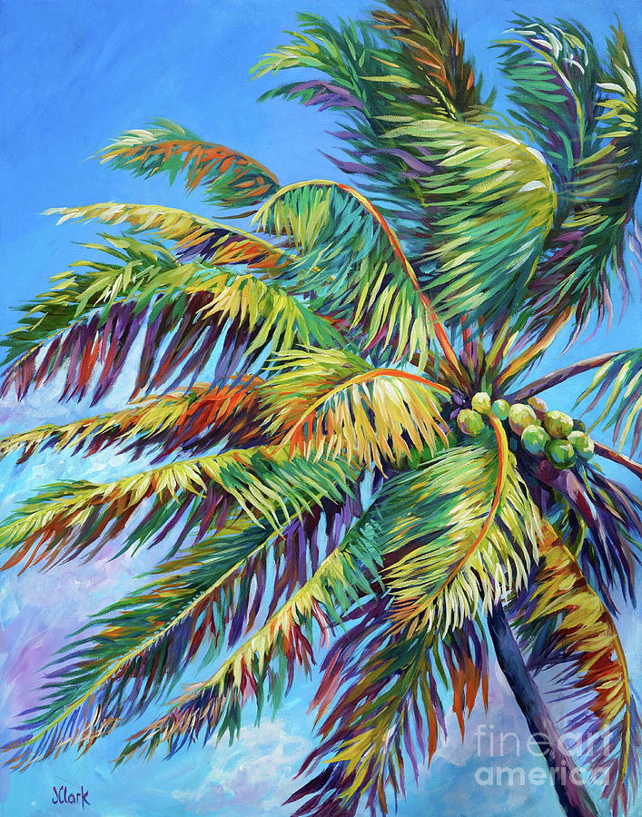 Palm Painting - Brilliant Palm by John Clark