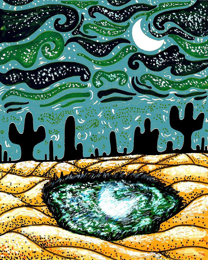 Night Mixed Media - Bring The Moon On Earth by Satarupa Banerjee