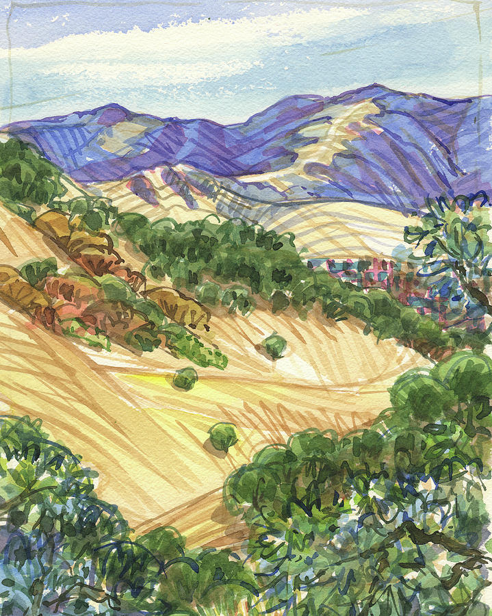 Briones from Mount Diablo Foothills by Judith Kunzle
