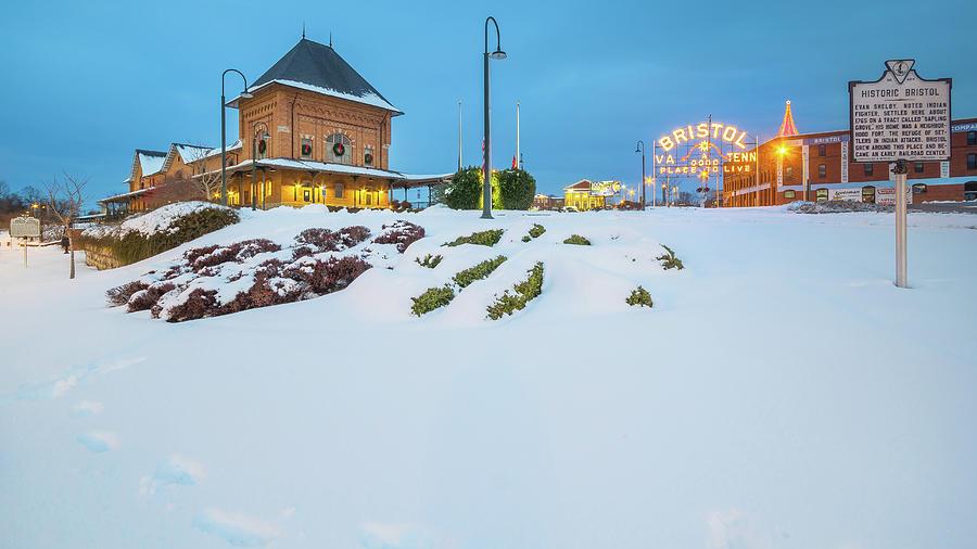 Bristol In The Snow Photograph