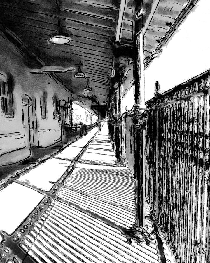 Bristol Train Station sketch  by Denise Beverly