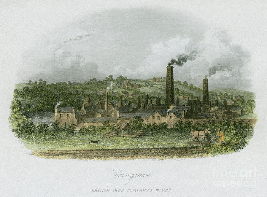 British Iron Companys Works Drawing by Print Collector