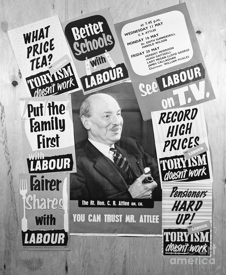 British Labour Party Election Posters Photograph by Bettmann