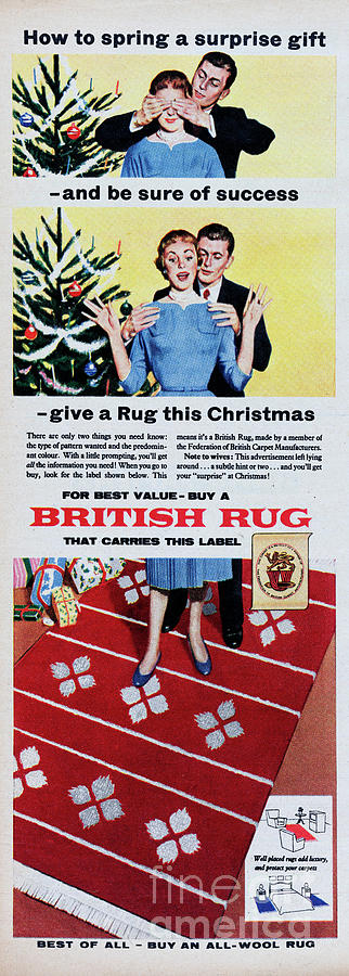 British Rug Photograph by Picture Post