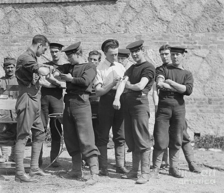 British Sailors Receiving Anti-cholera Photograph by Bettmann