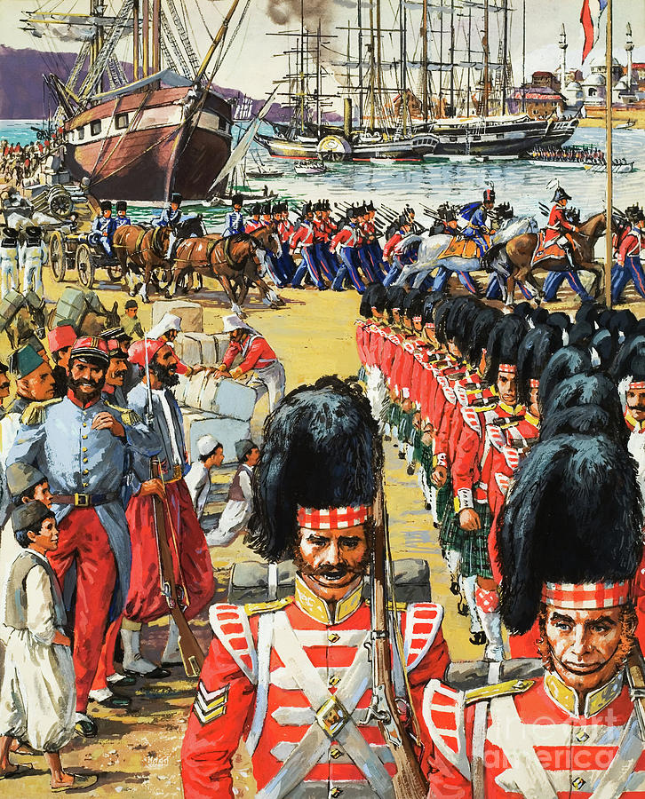 British Troops Disembarking by Cl Doughty