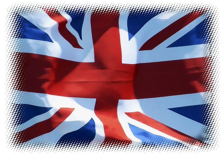 Union Jack Digital Art - British Union Jack Flag T-shirt by Daniel Hagerman