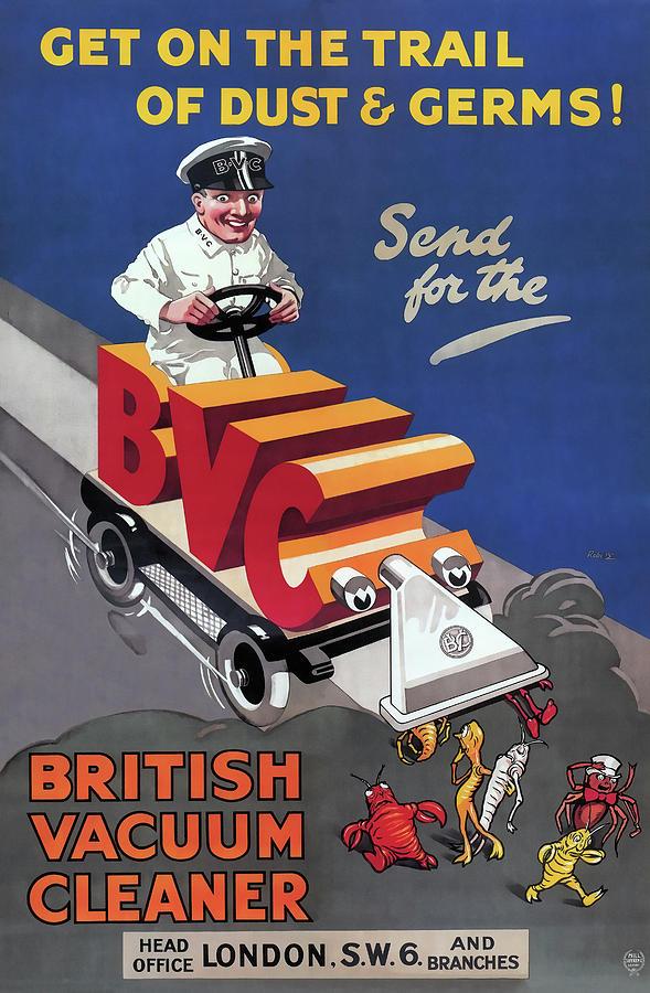 British Photograph - British Vacuum Cleaner Vintage Advert 1910 by Daniel Hagerman