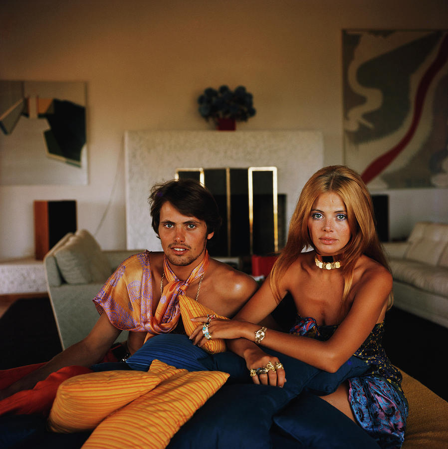 Britt And Her Brother Photograph by Slim Aarons