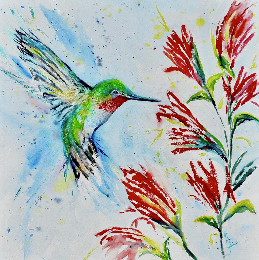Broad Tailed Hummingbird by Beverley Harper Tinsley
