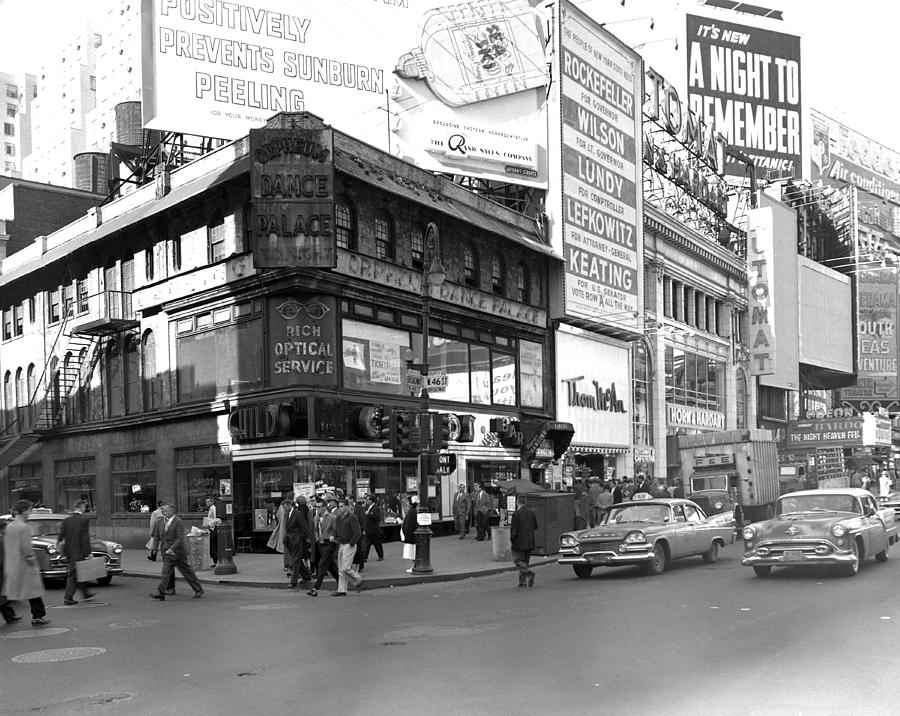 Broadway N.w. At46th St, Today, Of Photograph by New York Daily News Archive