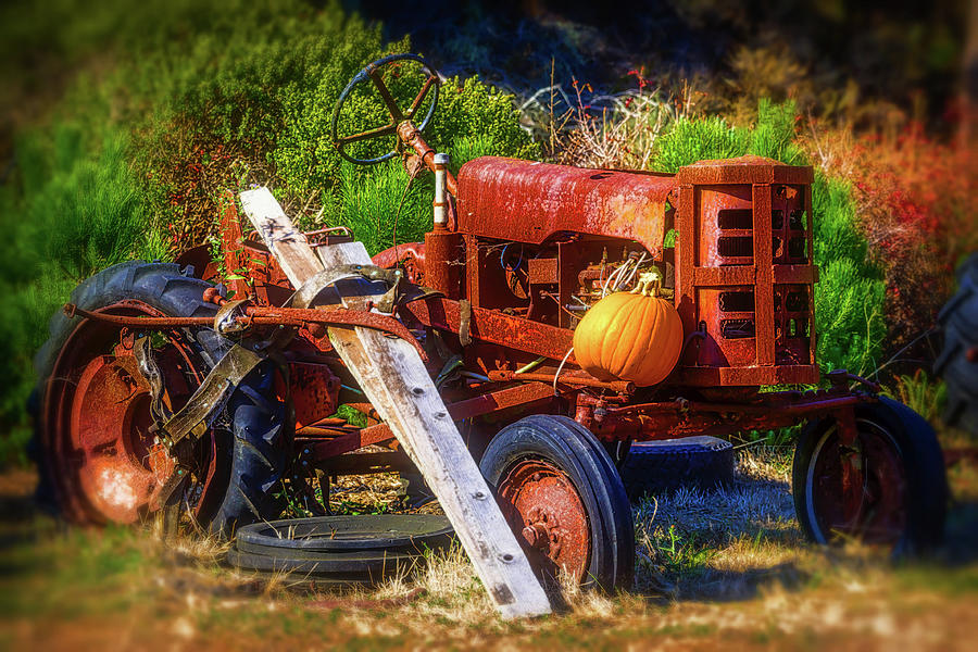 Broken Down Tractor by Garry Gay