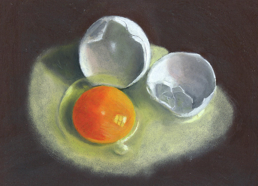 Broken Egg Study Drawing