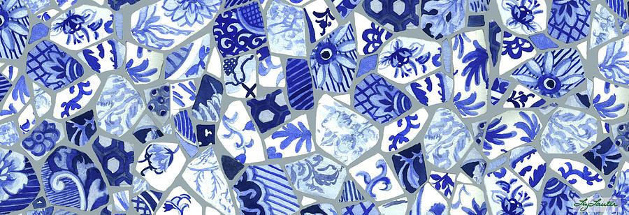 Broken Plates Mosaic Painting By Elizabeth Lauter