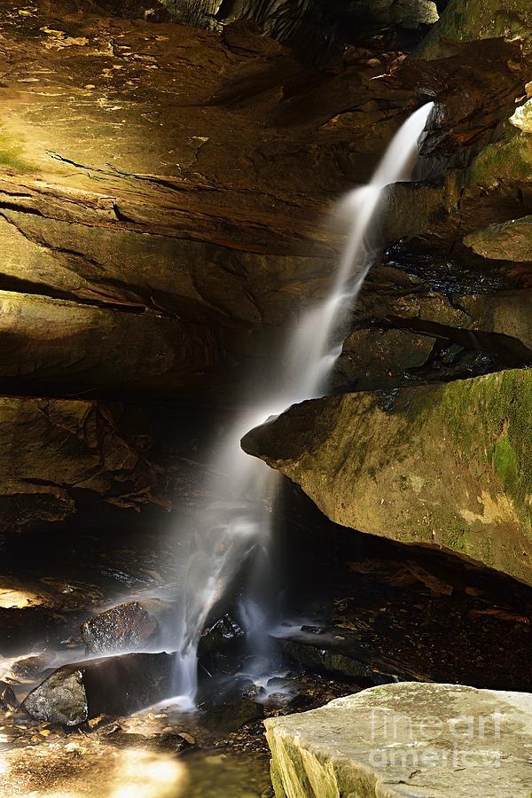 Broken Rock Falls by Larry Ricker