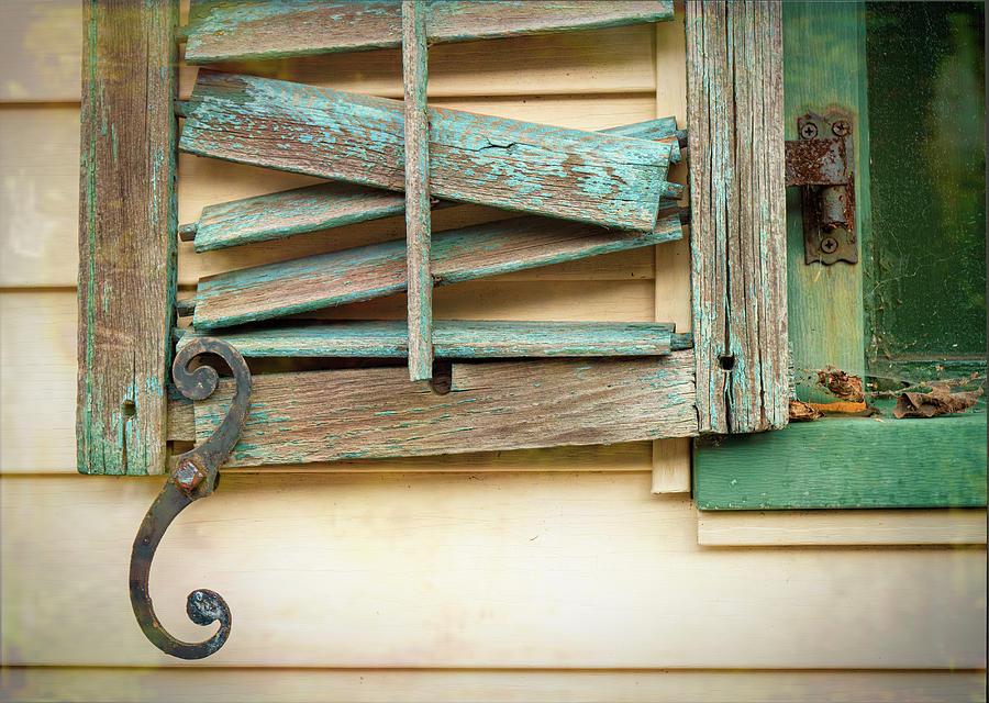 Broken Shutter And Rusty Hinge by Gary Slawsky