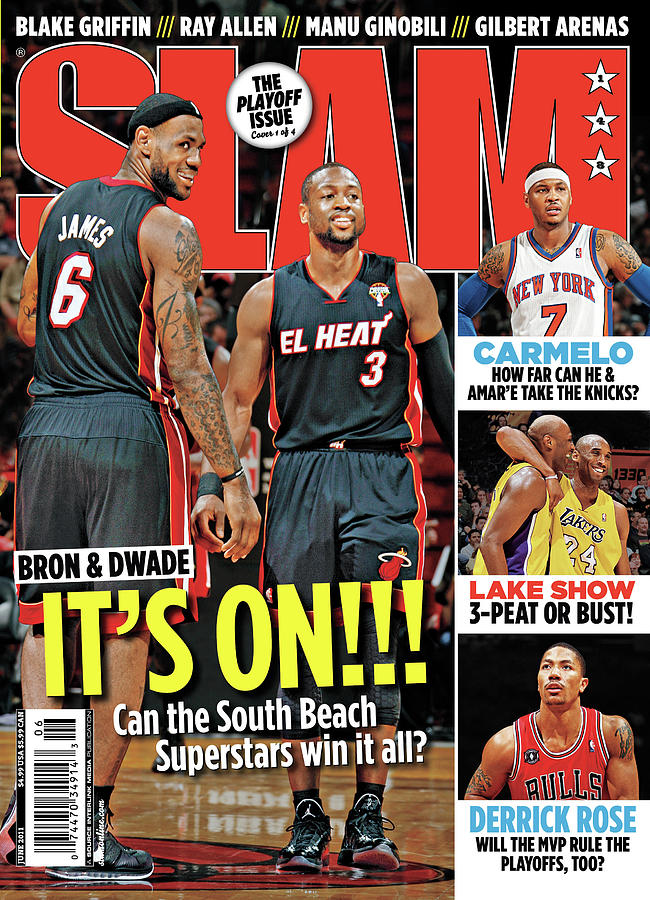 Bron & Dwade: Its On!!! SLAM Cover Photograph by Getty Images