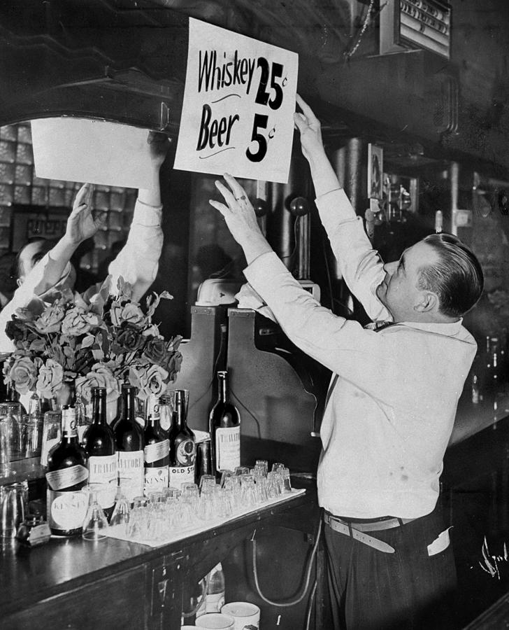 Bronx Bartender Maurice Moriarty Puts Photograph by New York Daily News Archive