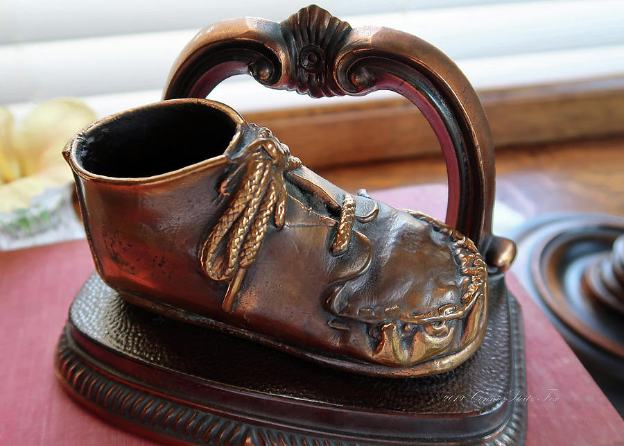Bronze Baby Shoe by Connie Fox