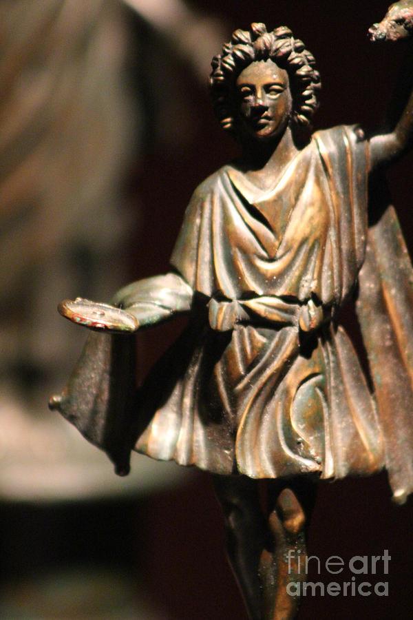 Bronze Figure 1 Century AD Pompeii  by Colleen Cornelius