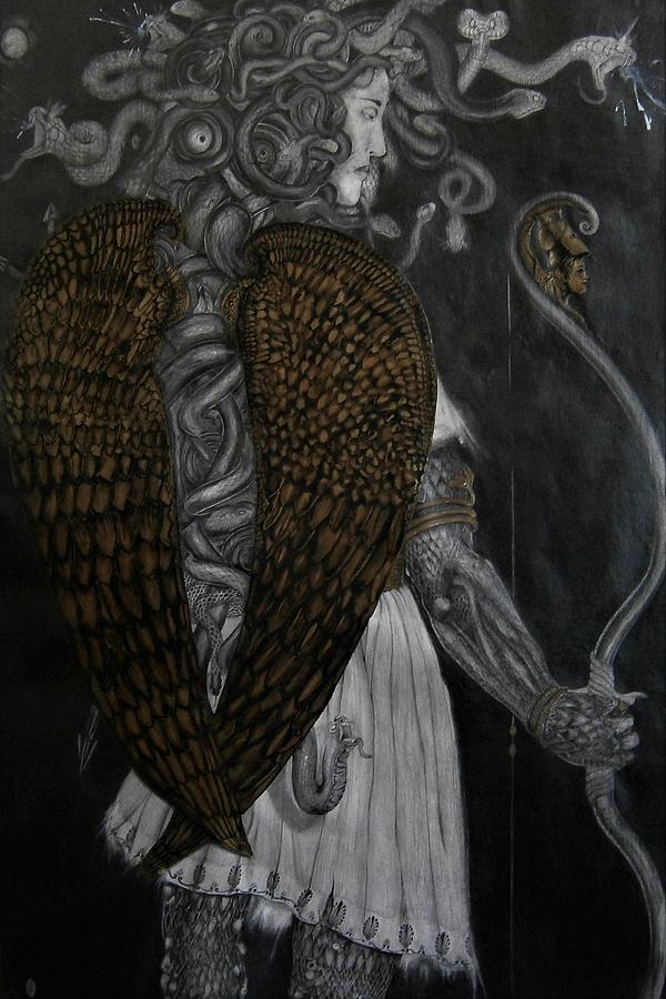 Bronze Winged Medusa by Balkishan Jhumat
