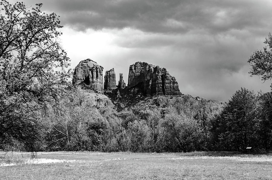 Brooding Clouds Cathedral Rock by Douglas Wielfaert