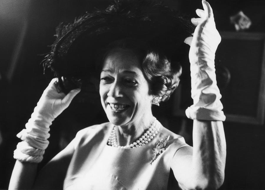 Brooke Astor Adjusts Her Hat Photograph by Fred W. McDarrah