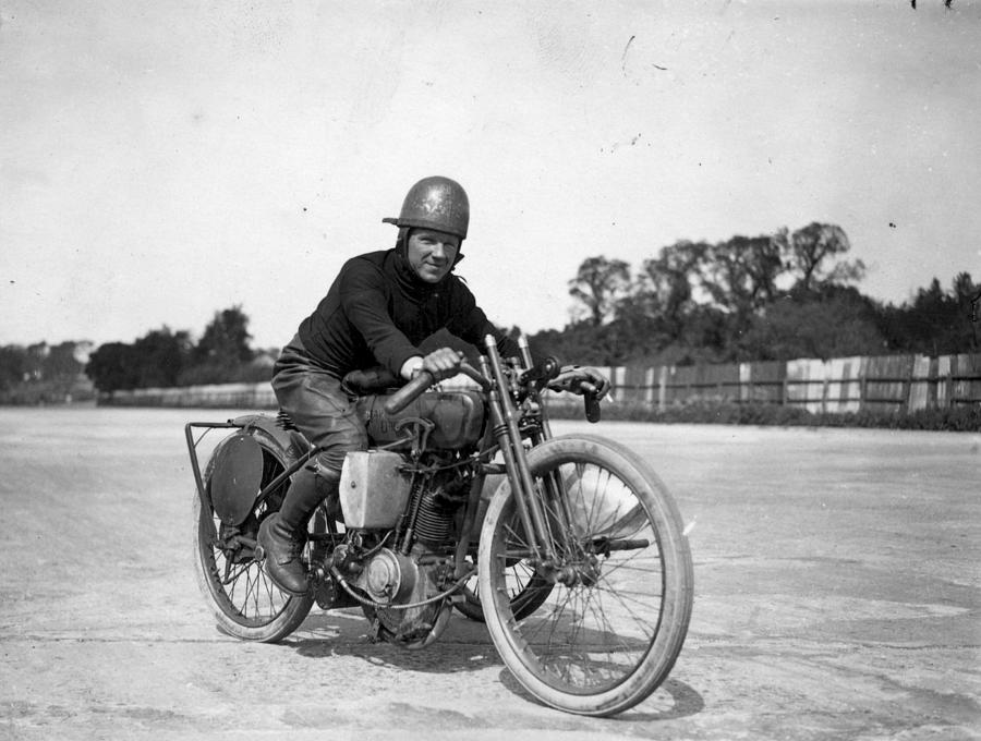 Brooklands Biker Photograph by Topical Press Agency