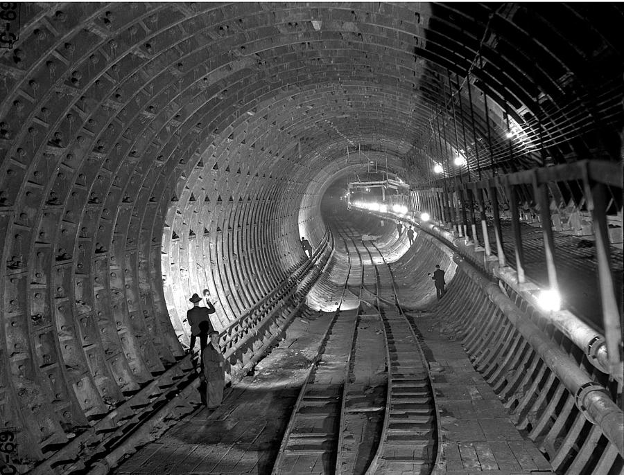 Brooklyn Battery Tunnel Under Photograph by New York Daily News Archive