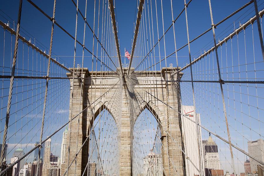Brooklyn Bridge Photograph - Brooklyn Bridge #2,  New York City, New York 08 - Color by Monte Nagler